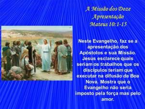 29- A missão dos doze apresentação